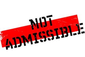 Not Admissible